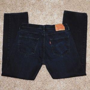 Levi's 501 34 x 32 black button fly jeans
